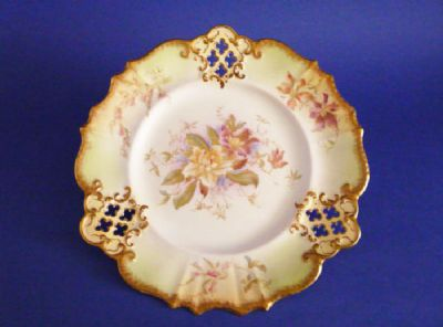 Superb Wiltshaw and Robinson Carlton Ware Pierced Blush Cabinet Plate c1900